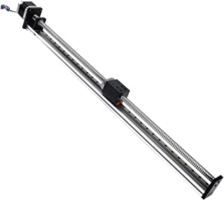 FUYU FSL40 Linear Guide Slide Table Ball Screw Motion Rail CNC Linear Guide Stage Actuator Motorized Nema 23 Stepper Motor[600mm Stroke]