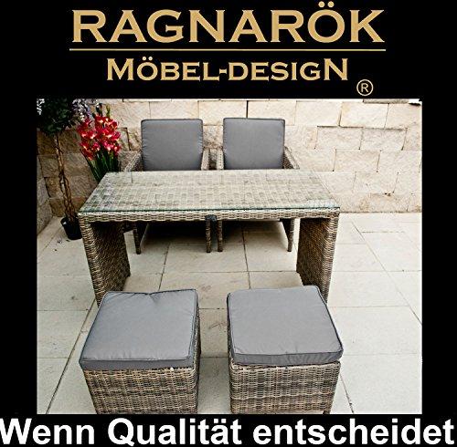 Garten Möbel Essgruppe Tisch Stühle Hocker Bild 5*