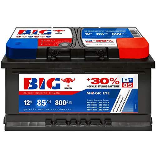 Autobatterie 12V 85Ah 800A BIG Silber Plus 30{650749eea59431f4d65a35bac918b5793915df1ec2d3ad2cc45b4dbb591903f4} PKW Batterie statt 77Ah 80Ah 88Ah 90Ah