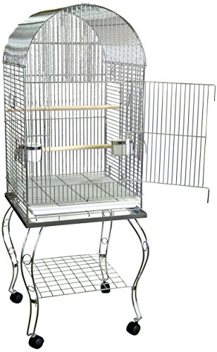 Brand New Parrot Bird Cage Cages Dome w/Stand 20x20x58-600ACHR
