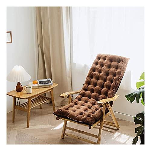 XHNXHN Sun Lounger Recliner Cushion, Thicken Garden Patio Lounge Chair Pad mit Befestigungsseil für Sofasitzbezug für Innen- und Außen-Soft-Relaxer-Sofas