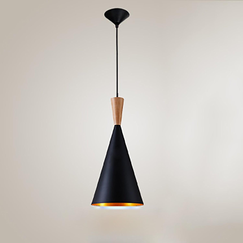 QFFL Lustre créatif rétro de style industriel d'art de fer lampe de restaurant créative simple de barre (3 styles facultatifs, longueur accrochante réglable) Lustre vintage (Couleur   NOIR-C)