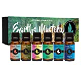 Earths Mystery - Gift Set of 6 Premium Fragrance Oils - Freesia Plumeria, Sweet Grass, Amberwood...