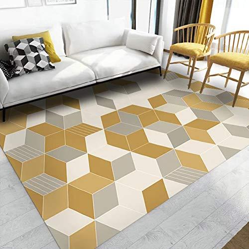 Insun Tapis Scandinave de Salon Chambre Tapis Déco Rectangle Antidérapant Lavable Style 11 140x200cm