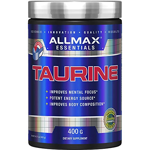 ALLMAX Nutrition 100% pharmaceutical grade maximum strength + absorption Taurine, 400g