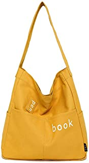 Fanspack Tote Bag Large Capacity Canvas Shoulder Purse Crossbody Purse Hand Bag for Lady