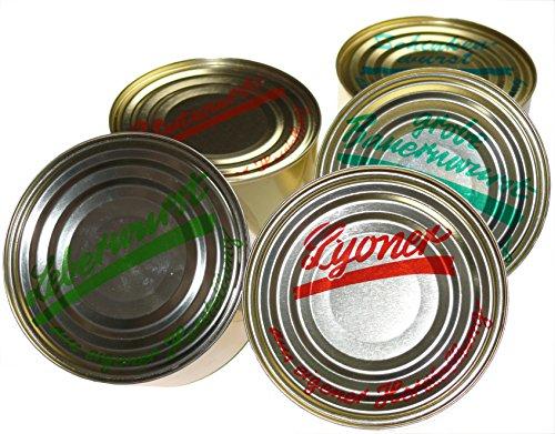 Schwarzwald Metzgerei - Wurstspezialitäten als Probierset in Dosen, fünf unserer beliebten Wurst-Delikatessen in einem Set - 5 x 400g | NEU: Vollkonserven | Notfallpaket | 1 Jahr MHD