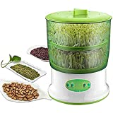 Machine de culture automatique de haricots germeurs, grand germoir de graines de Thermostat avec fonction de mémoire de mise hors tension, machine de germes de céréales de graines de haricots