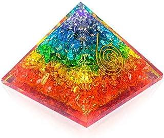 Pura Esprit Orgone Pyramid – Emf Protection Rainbow Pyramid Orgone Energy Generator 7Chakra Stones Healing Crystals Orgoni...
