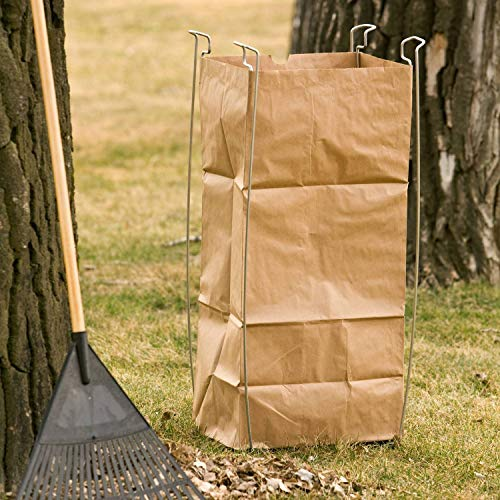 """Bag Buddy Bag Holder - Versatile Metal Support Stand for 55 Gallon Plastic and Paper Contractor Bags - Use for Leaves, Yard Work, Laundry, Trash and More - 23"""" h"""
