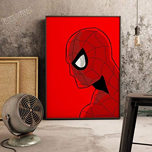 SDFSD Klassischer Superheldenfilm Superpower Retro Poster Bild Cartoon Kinderzimmer Kinderzimmer Wandkunst Home Decor Leinwand Gemälde 60 * 100cm G.