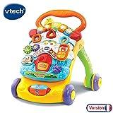 VTech - Super Trotteur Parlant 2 en 1 Orange – Trotteur interactif pour apprendre à marcher