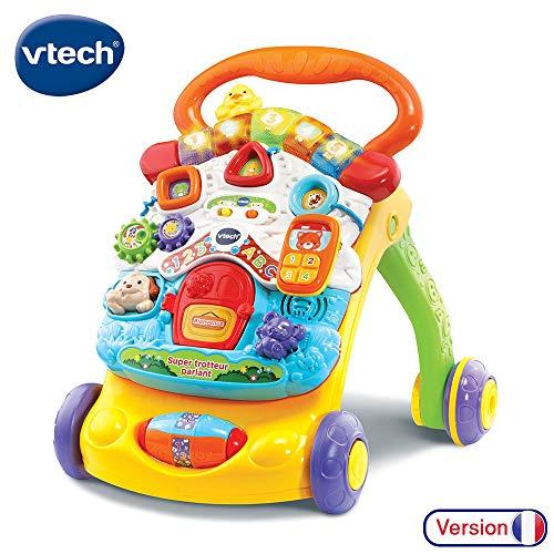 VTECH BABY- Super Trotteur Parlant 2 en 1 Orange PORTEURS, 80-505605, Multicolore
