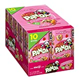 Meiji Hello Panda Cookies, Strawberry Crème Filled - 2.1 oz, Pack of 10 - Bite Sized Cookies with Fun Panda Sports
