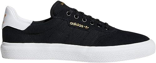 AdidasB22701-3mc Unisex Adulto Hombre, negro (negro blanco negro Suede), 44 EU