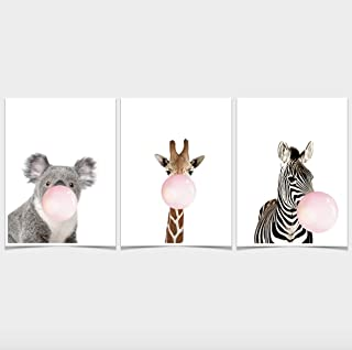 Maebong Animals Premium Nursery Wall Art Decor for Perfect Gifts for Baby or Kids | Variation Options(Framed or unframed) ...