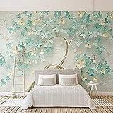 Carta da parati personalizzata con foto 3D per pareti della camera da letto Fiori verdi in rilievo Pittura murale S Carta Da Parati panno camera da letto moderna 3D Fotomurali Soggiorno-430cm×300cm