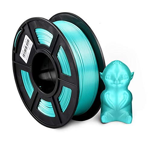 TongGuo 1.75mm PLA SILK Rainbow 3D printer Filament tangle free 100% no bubble with Vacuum bag packing Tolerance +/-0.02mm (Color : SILK GN 1KG)