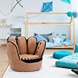 Fireflowery Kids Sofa, Baseball Glove Chair with Sturdy Wood Construction, Upholstered Toddler Couch Chair for Preschool Children, Toddler Armchair for Boys, 3-5 Years Old (Finger Shape)