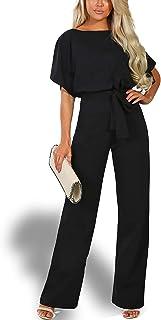 Alelly Women's Summer Short Sleeves Elegant Playsuit Wide...