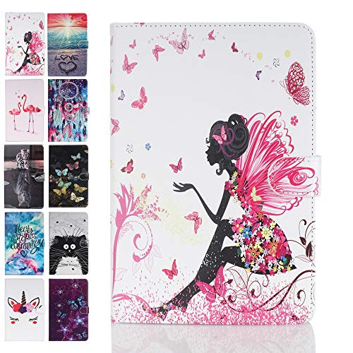 Ancase Tablet Case for Apple iPad Air (3) 10.5 Inch 2019 & iPad Pro 10.5 2017 Cover Leather Wallet Folio Pattern Design Case Protective with Card Slots - Female Elf