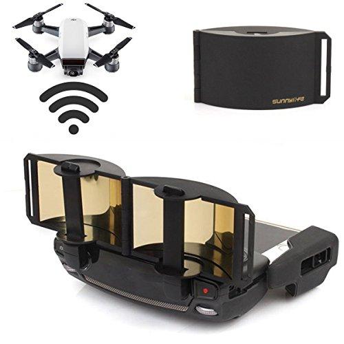 DJI Mavic Pro Mavic Air Spark Accessories for DJI Mavic Pro / Mavic Air / Spark Controller Signal Booster Foldable Signal Extender Transmitter Antenna Range Extender DJI Spark Drone (Gold)