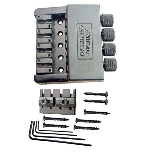 Fenteer Set Puente Bridge para Headless Eléctrico Bajo Guitarra de 4 Cuerdas Sin Cabeza Accesorio para Instrumentos de Música