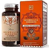 FS Boswellia Serrata Capsule 2000mg | 120 Capsule Vegane - Fornitura per 4 Mesi di Alta Resistenza Franchincenso Estratto | Integratore Articolazioni | Non OGM, Senza Glutine e Allergeni