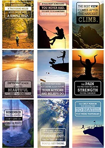 9 Pieces Inspirational Quote Wall Art Motivational Posters Quote Words Saying Wall Poster Painting product image