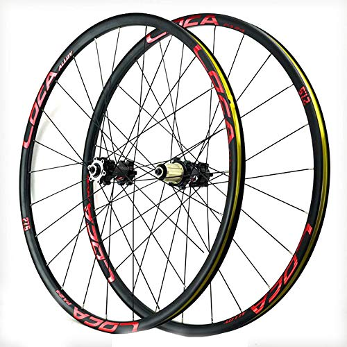 TYXTYX Juego de Ruedas para Bicicleta de montaña, 26/27.5/29 Pulgadas, Freno de Disco, 24 radios, 8-12 velocidades, Cassette, Volante, bujes de rodamiento sellados QR, 1850 g (Color: A, tamaño: