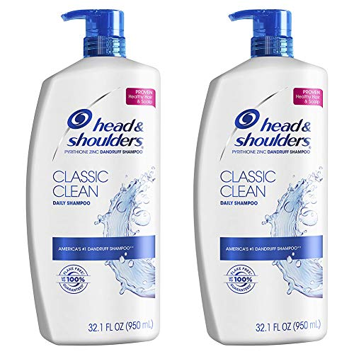 Head and Shoulders Shampoo Anti Dandruff Treatment and Scalp Care Classic Clean 321 fl oz Twin Pack