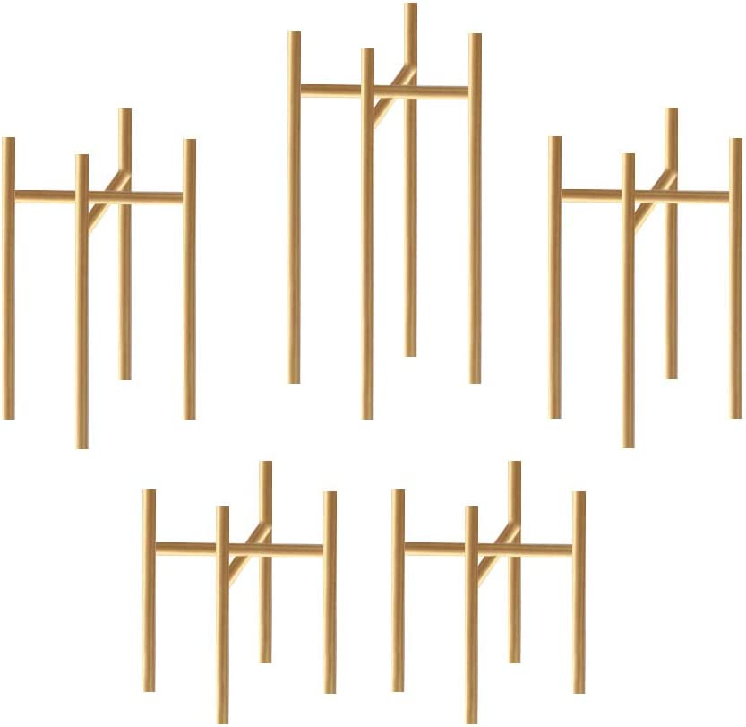 smtyle Gold Candle Max 66% OFF Austin Mall Holders Set of Candelabra for 5 Acc Fireplace