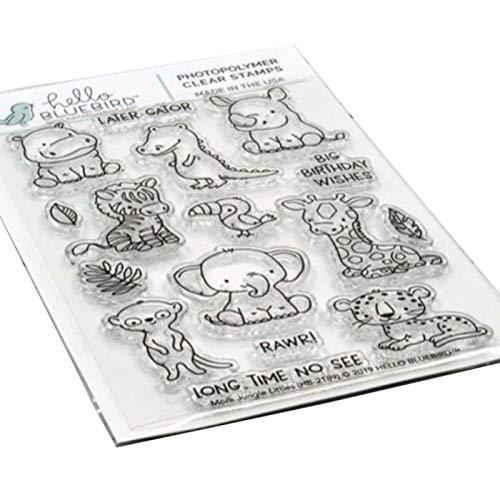 Stanzschablone, DIY-Karten, Elefanten-Giraffe, Tier-Stanzform, Stempel, DIY-Scrapbook-Schablone, Papierkarten-Dekoration – nur Stempel
