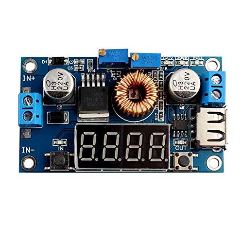 GUTES PRODUKT 2019 4-stelliges 5-A-LED-Laufwerk-Lithium-Batterie-Ladegerät mit Voltmeter Amperemeter DC-DC-Modul - Blau LDTR-WG0181