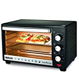 Inalsa Oven MasterChef 16BK OTG (16L) with Temperature Selection-1300W, 4-Stage Heat Selection, Includes Baking Pan, SS Grill Tray, Tray Handle (Black)
