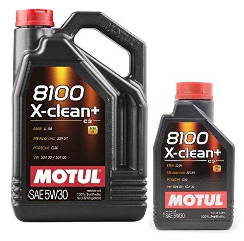 Motul 8100 X-CLEAN+ 5W-30 6 litros (1x5 + 1x1 lt) 100% sintetico DPF