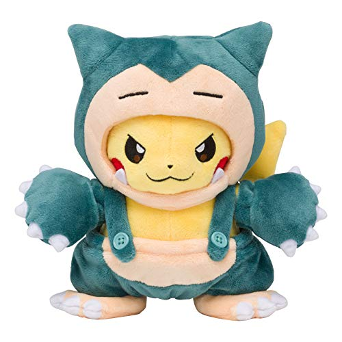 Pokemon Center Original stuffed Snorlax maniac Pikachu