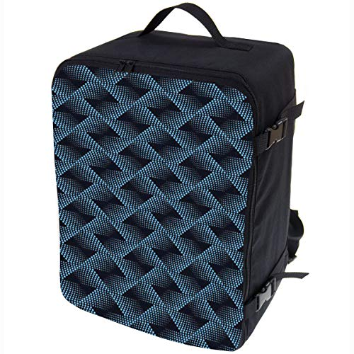 Multifunctional Carry-On Travel Backpack Baggage Cabin Flight Weekend Backpack Carry On Bag Travel Hand Luggage Size 40x30x20cm Blue Dots [102]