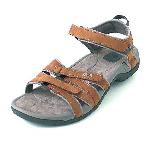 Teva Tirra Leather W`s 9097, Sandali donna, Marrone (Rust), 39