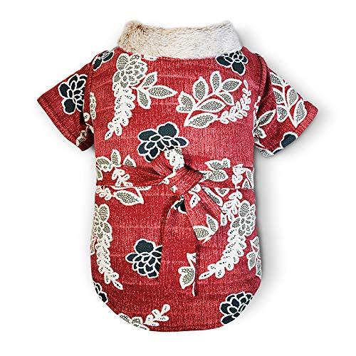 HCBDQQ HundemäNtel, Hundebekleidung, Winddichte Warme Kleidung des Winters, Strickfutter Der Chinesischen Art Kleidet Xs