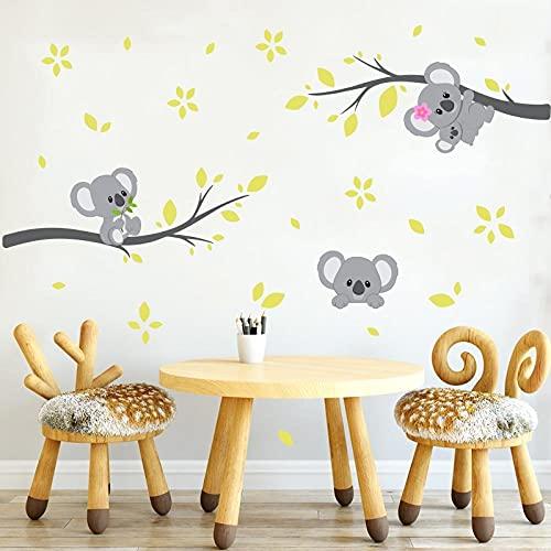 Nuevas Pegatinas De Pared De Rama De Koala Bonitas Para Habitación De Niños, Calcomanías De Pared De Animales Wombat Autoadhesivas, Mural Para Decoración De Habitación De Bebé, Para Habitación