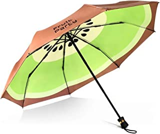 GHMOZ Fruit Creative Folding Umbrella Double Umbrella Umbrella Anti-UV Sun Umbrella Rain and Rain Umbrella (Color : Brown)