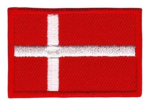 Patch Dänemark Flagge Klein Denmark Aufnäher Bügelbild Größe 4,5 x 3,0 cm
