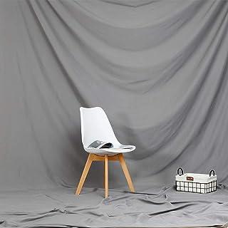 2 x 2,7 m, einfarbiger Polyester Stoff, grauer Hintergrund für Fotografie, weicher Stoff, faltbarer Hintergrund, Vorhang, Portrait, Kleidung und Modellfotografie, Hintergrund maschinenwaschbar, BT043