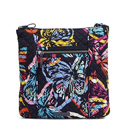 Vera Bradley Signature Cotton Hipster Crossbody Purse, Butterfly...