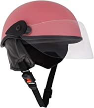 Sage Square Scooty Half Helmet for Men, Women (Pink Glossy, Large)