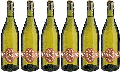 Bio Wein Schaumwein Extra Trocken Glera Italien Veneto 2020 Prosecco Frizzante Perlwein Vegan Histaminarm (6 x 0.75 l)