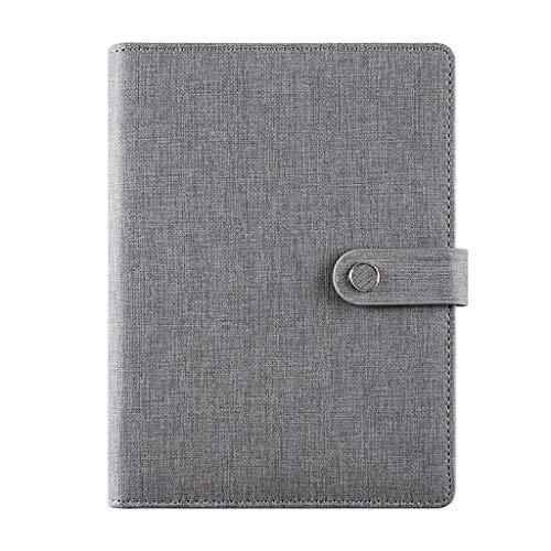 Cuadernos de Oficina A5 PU cuero duro portátil se escribe diario Asunto Gobernado paquete grueso clásico Hardcover escritura y revistas con bolsillo de papel de hojas sueltas Cuaderno de Tapa Blanda