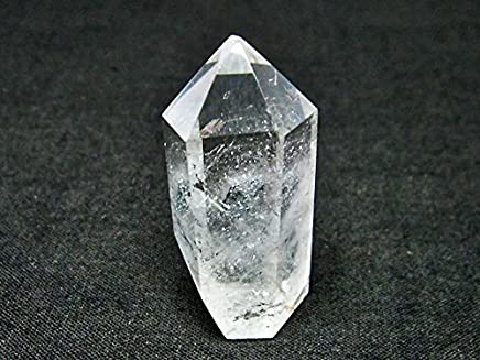 スティブナイト(輝安鉱)入り水晶六角柱【T725-1554】