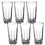 KADAX Trinkgläser aus hochwertigem Glas, 6er Set, Wassergläser, dickwandige Saftgläser, geriffelte Gläser für Wasser, Drink, Saft, Party, Cocktailgläser, Getränkegläser (hoch, 330ml)